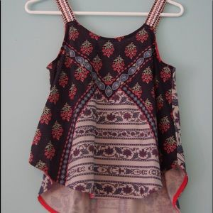 Beautifully printed tank top in perfect condition